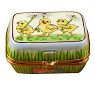 Easter Egg Box W/Eggs Rochard Limoges Box
