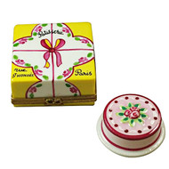 Cake Box W/Cake Rochard Limoges Box