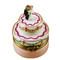 Mini Wedding Cake W/Bride & Groom Rochard Limoges Box