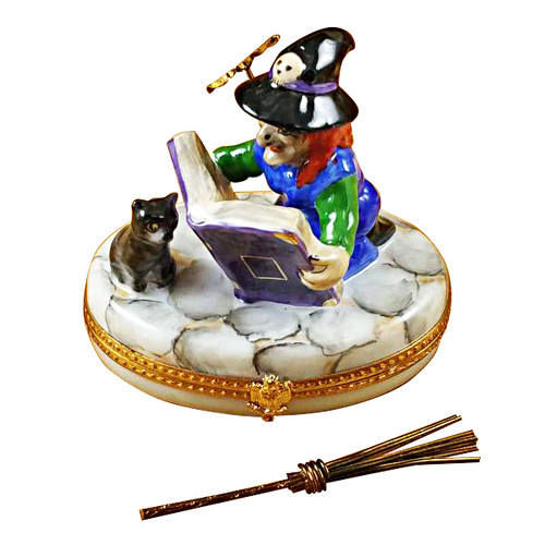 Witch W/Book Rochard Limoges Box