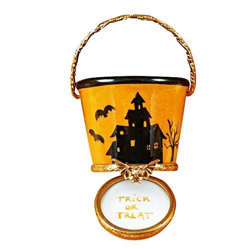 Halloween Pail W/Pumpkin Rochard Limoges Box