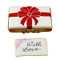 Gift Box With Red Bow - With Love Rochard Limoges Box