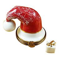 Santa Hat With Present Rochard Limoges Box
