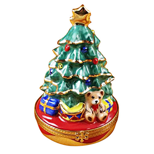 Christmas Tree W/Gifts Rochard Limoges Box