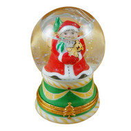 Santa In Globe Rochard Limoges Box