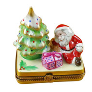 Christmas Tree W/Santa & Gifts Rochard Limoges Box