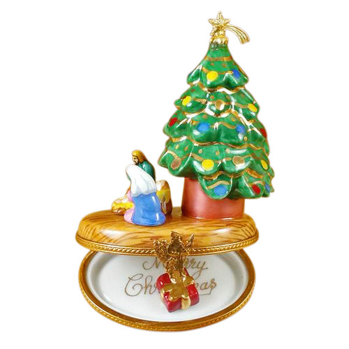 Christmas Tree With Nativity Rochard Limoges Box