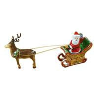 Santa In Sleigh W/Reindeer Rochard Limoges Box