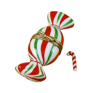 Christmas Candy With Removable Candy Cane Rochard Limoges Box