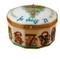 Twelve Days Of Christmas W/ Removable Porcelain Wreath Rochard Limoges Box