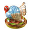 Blue Turkey W/Cornstalk Rochard Limoges Box