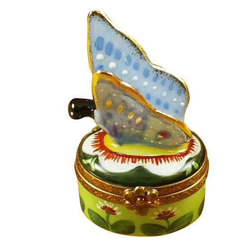 Butterfly Blue-Gold Rochard Limoges Box