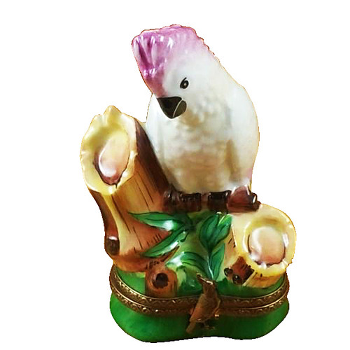 Cockatoo Pink Crested Rochard Limoges Box