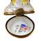 Bald Eagle With American Flag Rochard Limoges Box