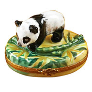 Panda With Bamboo Rochard Limoges Box