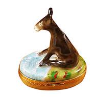 Donkey Sitting Rochard Limoges Box