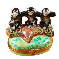 Three Monkeys Rochard Limoges Box