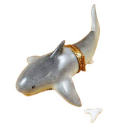 Shark W/ Removable Tooth Rochard Limoges Box