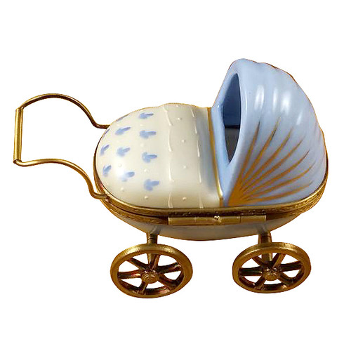 Blue Baby Carriage Rochard Limoges Box