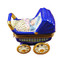 Limoges Imports Blue Baby Carriage Limoges Box
