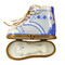 Baby Shoe W/Plaque Blue Rochard Limoges Box