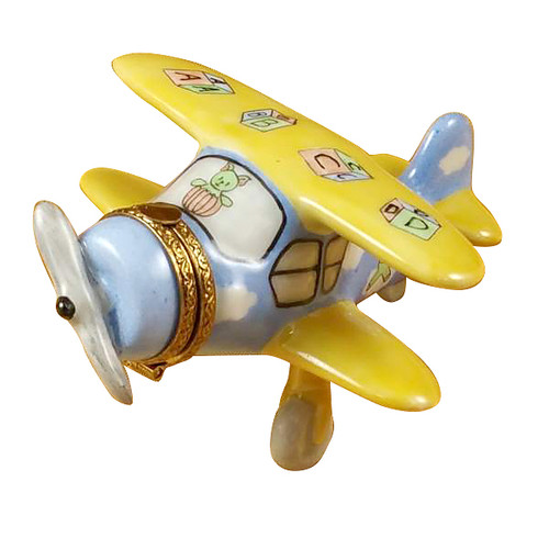 Airplane Baby Decor Rochard Limoges Box