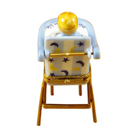 Baby High Chair Blue Rochard Limoges Box