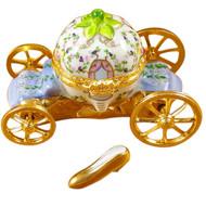 Cinderella Carriage W/Shoe Rochard Limoges Box