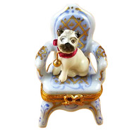 Pug On Armchair Rochard Limoges Box