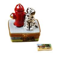 Dalmatian By Fire Hydrant Rochard Limoges Box