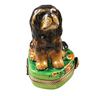 Black And Tan King Charles Spaniel Rochard Limoges Box