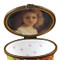 Studio Collection - Oval Floral Green - Portrait Of A Girl Inside Rochard Limoges Box
