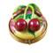 Cherries On Small Round Rochard Limoges Box