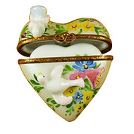 Heart W/Two Doves Rochard Limoges Box