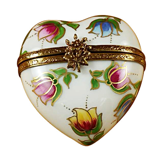 Heart - Tulips Rochard Limoges Box