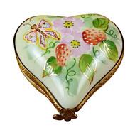 Small Heart W/Strawberries Rochard Limoges Box