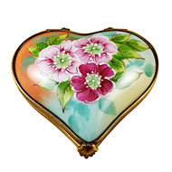 Wild Roses Heart Rochard Limoges Box