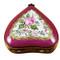 Burgundy Heart With Flowers Rochard Limoges Box