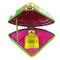 Pansy Fan W/Perfume Rochard Limoges Box