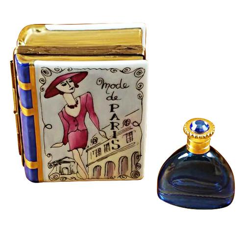 Book Box W/Bottle Rochard Limoges Box