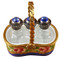 Basket W/Three Perfume Bottles Rochard Limoges Box