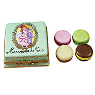 Square Box With Macarons De Paris Rochard Limoges Box