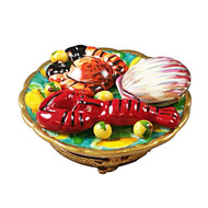 Seafood Platter Rochard Limoges Box