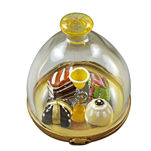 Domed Dessert Tray With Pastries & Champagne Rochard Limoges Box