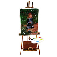 Easel Renoir: A Girl With Watering Can Rochard Limoges Box