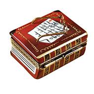 Book W/Glasses Rochard Limoges Box