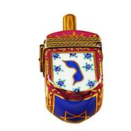Dreidel Blue/Maroon Rochard Limoges Box