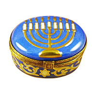 Menorah-Blue Rochard Limoges Box