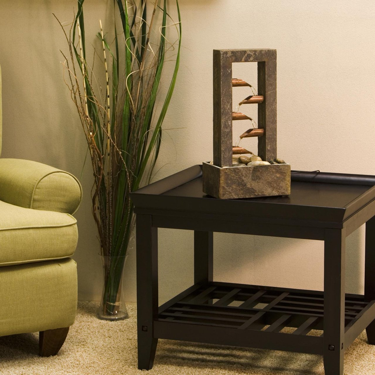 Lower Your Stress Level With A Tabletop Water Feature In