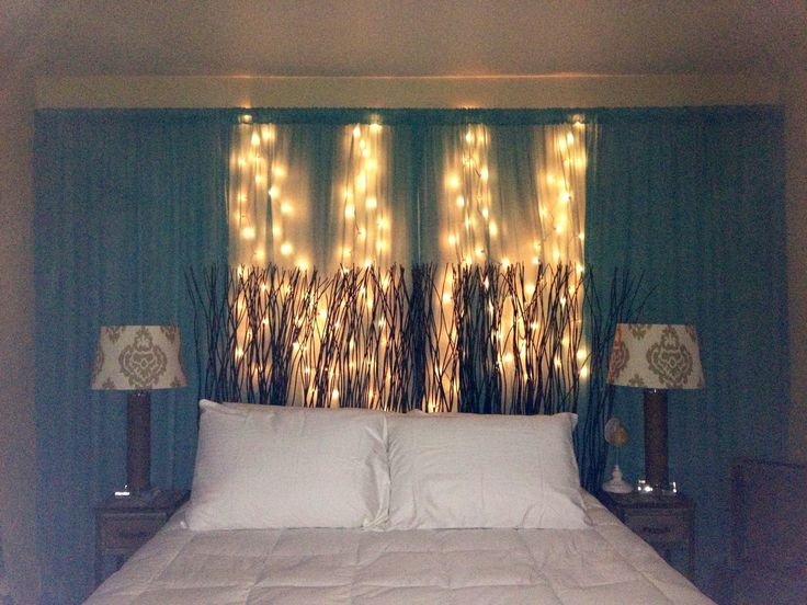 Wall Of Curtains Behind Bed : Decorating your first apartment on a budget indoor